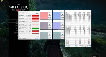 MSI GE75 8SG with Core i7-8750H running Witcher 3