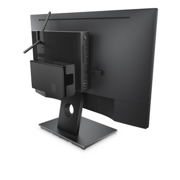 The Wyse 5070 can be easily mounted on monitor backs. (Source: Dell)