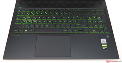 The input devices of the HP Pavilion Gaming 16
