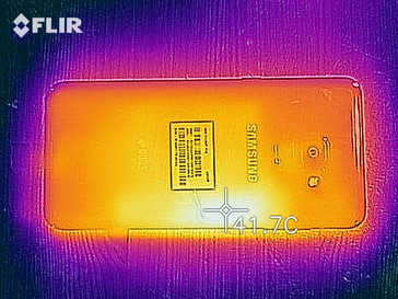 Thermal imaging camera - back of the Galaxy A8 (2018)