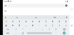 Google keyboard layout (landscape)