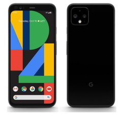 The first official render of the Pixel 4 has surfaced. (Source: @evleaks)