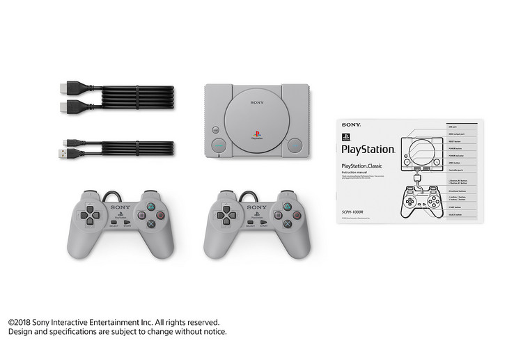 The contents of the PlayStation Classic box (Source: Sony)