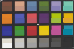 ColorChecker Passport: The target color is displayed in the lower half of each patch.