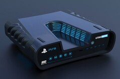 PS5 concept render. (Image source: LetsGoDigital)