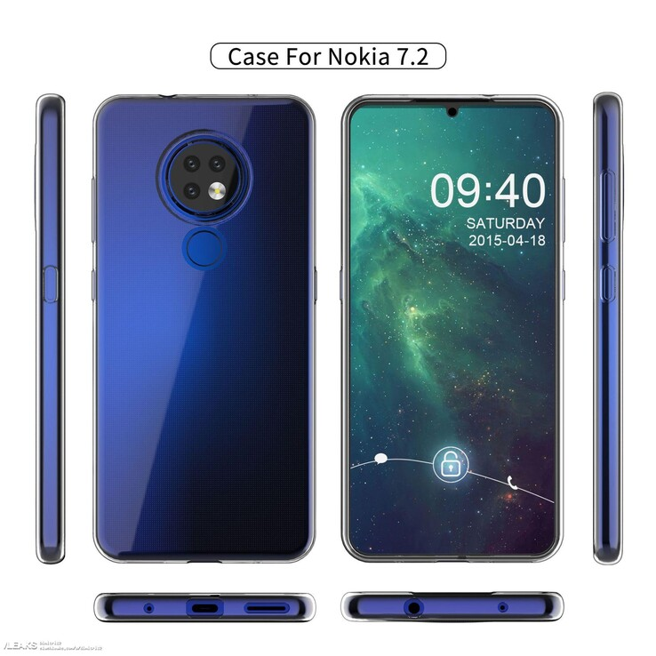 The latest case render for the Nokia 7.2. (Source: SlashLeaks)