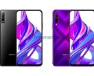 New renders suggest a hidden front-facing camera for the Honor 9X Pro. (Source: MySmartPrice)