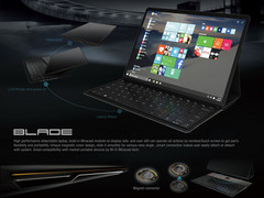 The Lenovo Blade features a unique approach to hybrid notebooks. (Source: iF World Design Guide)