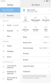 Xiaomi Mi Pad 4 (LTE) Device information