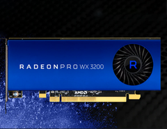 The Radeon Pro WX3200 is designed to fit the latest compact workstations. (Source: AMD)