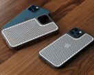 The iPhone 12 Pro with its new cheesegrater case. (Source: Yanko Design)