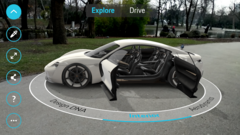 Google has partnered with Porsche to give users an AR experience in their driveway. (Source: Google)