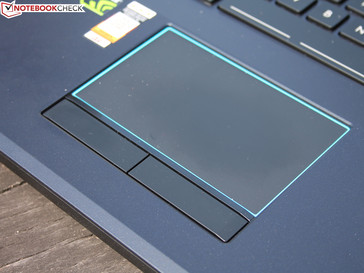 Touchpad with dedicated buttons