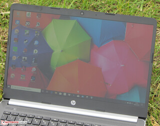 The HP 14 outdoors (shot taken under an overcast sky).