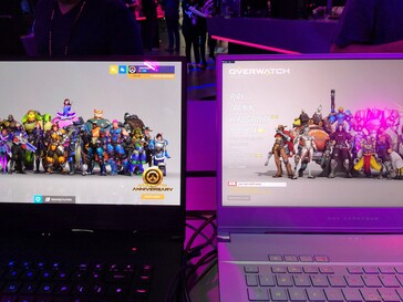 Side-by-side comparison of AMOLED (left) and IPS (right) displays.