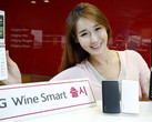 LG Wine Smart Android smartphone with clamshell design