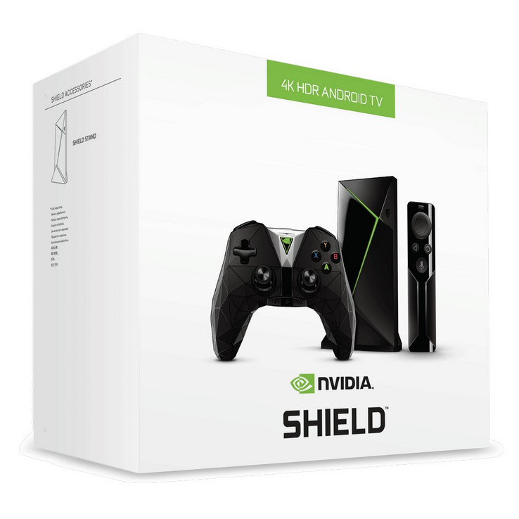 The SHIELD TV will include a controller and remote. (Source: Nvidia)