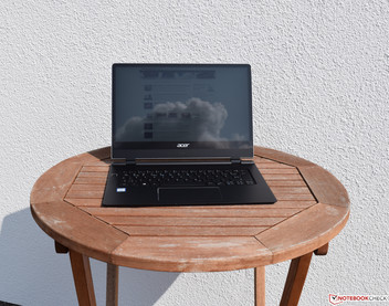 Using the Acer Swift 7 SF714 in direct sunlight