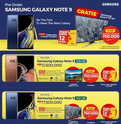 Samsung Galaxy Note 9 Indonesian pricing and pre-order offers. (Source: SamMobile)