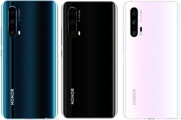 Some more shots of the alleged Honor 20 Pro, in addition to its 3 putative color options. (Source: Digital Trends)