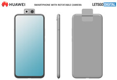 One of Huawei's alleged new flip-phone designs. (Source: LetsGoDigital)