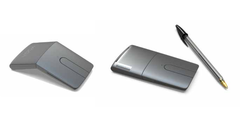 With a twist of a hinge the Yoga Mouse becomes a handy flat laser presenter. (Source: Lenovo)