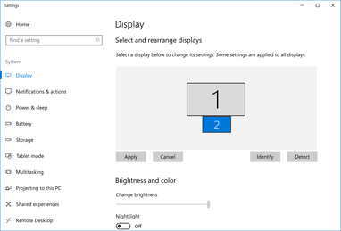 Windows will recognize the trackpad as a regular external display when it is set to Extension Display mode. The second screen can be dragged to different edges of the main screen