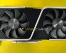 The RTX 3060 Ti Founders Edition will apparently look a lot like the RTX 3070. (Image source: Videocardz)