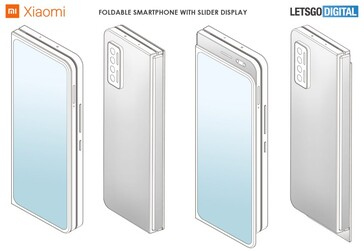 Xiaomi foldable slider phone. (Image source: LetsGoDigital)
