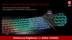 Silver lining printing allows for impactful RGB lighting in the dark. (Image Source: MSI)