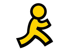 AOL logo running man, AIM now switched off mid-December 2017