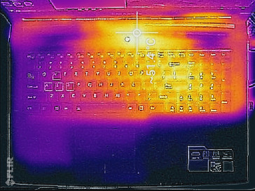 Thermal analysis, top of base unit