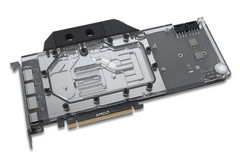 EKWB's sleek single-slot water block which covers the GPU core, memory, and VRMs. (Source: EKWB)