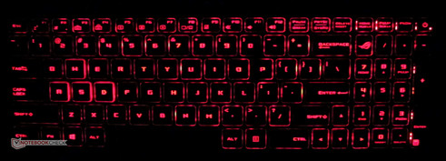 Red Keyboard backlighting.