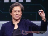 AMD's Dr. Lisa Su unveils the Ryzen 4000 APUs for laptops.
