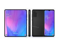 A render of the purported Galaxy Fold 2 (Image source: WindowsUnited.de)