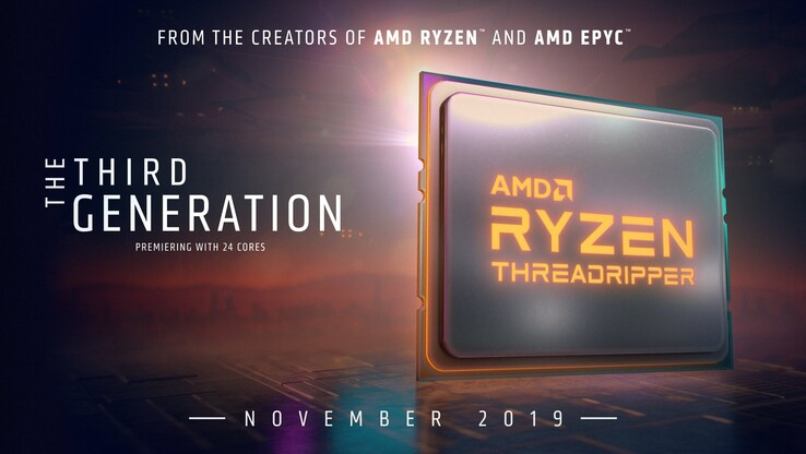 Third-generation Threadripper is coming. (Image source: AMD)