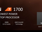 The lowest tier R7 1700's strong performance, fair price, and low TDP make it a compelling offering. (Source: AMD)
