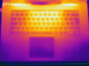 Heat map of the top of the device during a stress test