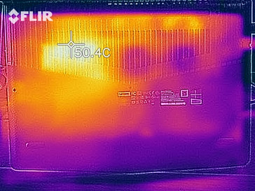 Thermal imaging of the bottom case under load