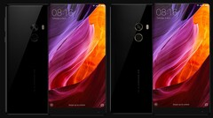The Xiaomi Mi Mix also comes in an 18K variant (R) with gold rims around the sensors. (Image source: Xiaomi)