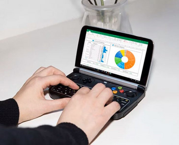 GPD Win 2 running Microsoft Excel with the joystick in 'mouse mode.' (Source: GPD)