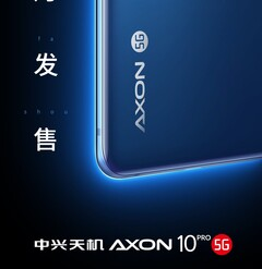 The 5G version of the ZTE Axon 10 Pro. (Source: Weibo)