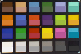 Photographed ColorChecker reference: The lower half of each square contains the original color.