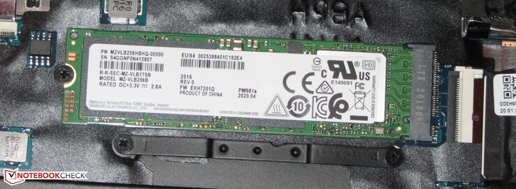 An NVMe SSD as the system drive.