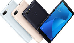 The ZenFone Max Plus (M1) will have 3 color options, but only the black and bluish silver will be available in NA. (Source: Asus)
