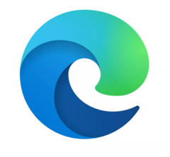 The new Edge logo is a stylisd 'e' that is also shaped like a cresting wave. (Source: Microsoft)