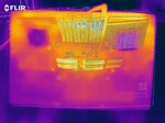 Heatmap of the bottom case under sustained load
