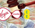 EE and Virgin Media have been fined millions of pounds for mischarging early-exit fees. (Source: Own)