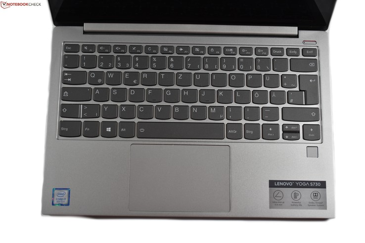 A look at the keyboard and trackpad